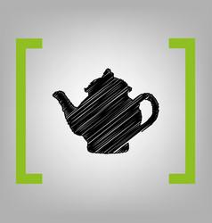 tea maker sign black scribble icon in vector image vector image