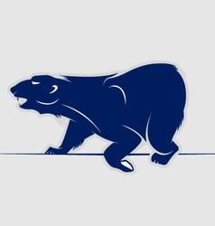 wild bear walking icon vector image vector image