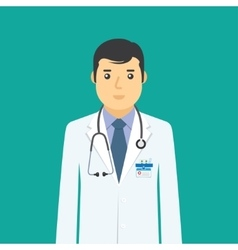 Doctor flat medical icon vector image