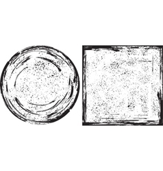 Grunge round and square frames texture vector image