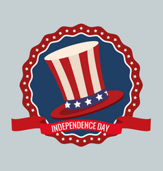 independence day united states memorial party vector image