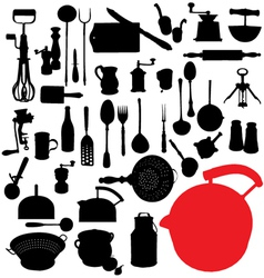traditional kitchen tools vector image