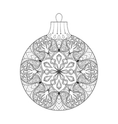 vintage Christmas ball New Year 2017 freehand vector image vector image
