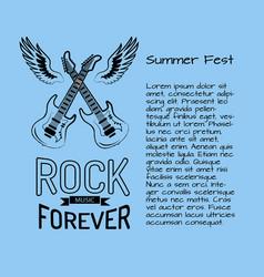 rock music forever summer fest vector image vector image