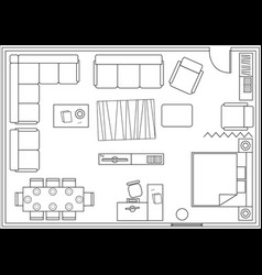 set of icons for architectural plans vector image