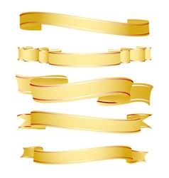 shapes of ribbon vector image