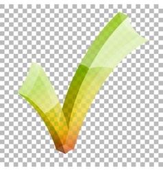 Transparent check mark vector