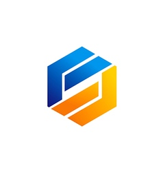 business shape technology logo vector image