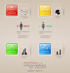 infographics retro minimal 2 vector image
