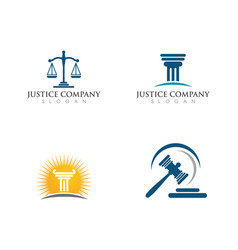 justice law logo template vector image