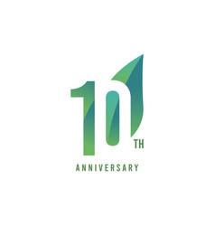 10 th anniversary logo template design vector