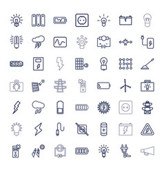 49 electricity icons vector