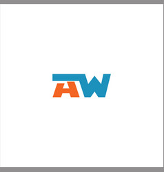 A w letter logo design on black color background vector