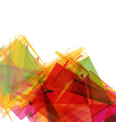 Abstract geometric shapes background vector image