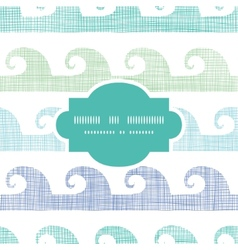 Abstract textile waves stripes frame seamless vector image