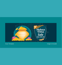 Akshaya tritiya sale cover page vector
