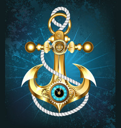 anchor with clock vector image vector image