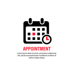 Appointment icon calendar with spesific date vector