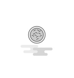 bacteria web icon flat line filled gray icon vector image