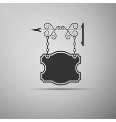 Blank pub sign icon vector