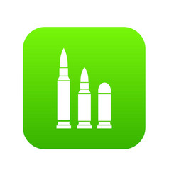 bullets icon digital green vector image