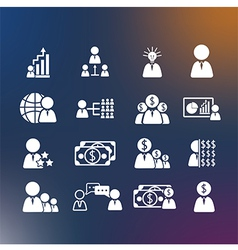 Business Human icons vector image