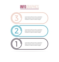 Business infographics List with 3 options vector