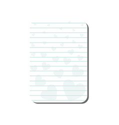 card with place for notes with hearts lined vector image