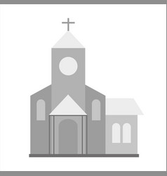 Church icon gray monochrome of vector