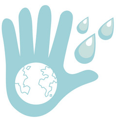 cleaning hands icon on white background vector image