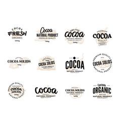 cocoa logo set vector image