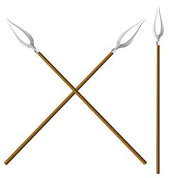 Crossed forks vector