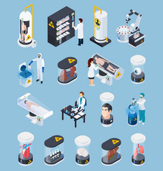 cryogenics isometric icons collection vector image