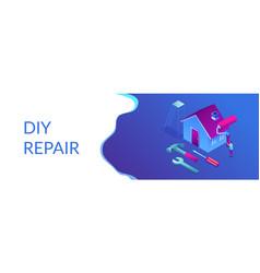 Diy repair isometric 3d banner header vector