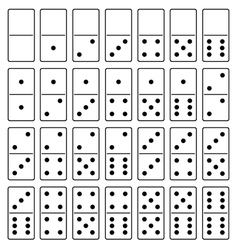 Domino set vector image