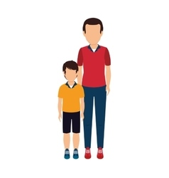 father with son character vector image