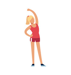 fitness woman female character in sport uniform vector image