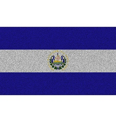 Flags El Salvador on denim texture vector