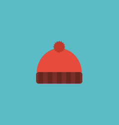 flat icon knitted hat element vector image