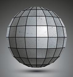 Futuristic galvanized 3d globe created with vector image