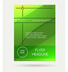 green flyer brochure vector image
