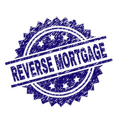 Grunge textured reverse mortgage stamp seal vector