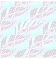 Hand Drawn Feather Seamless Background vector
