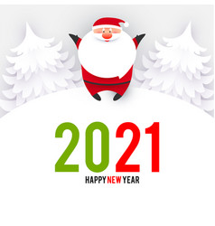 happy ner 2021 year christmas design template with vector image