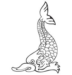 heraldic dolphin No4 vector image
