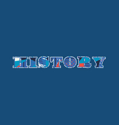 History concept word art vector