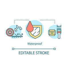Hydrophobic materials substances concept icon vector