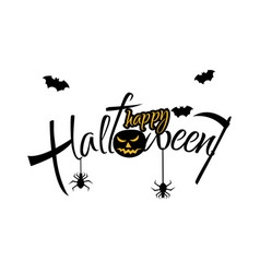 inscription happy halloween isolated on white vector image