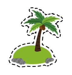 isolated island icon image vector image