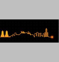 Kaohsiung light streak skyline vector